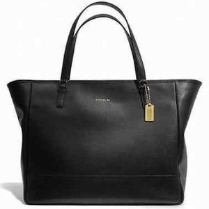 Lg Coach East West Saffiano Leather Tote 23822 Bag
